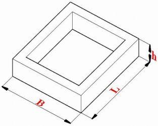 Объем бетона прямоугольника бетон пропорции ведро