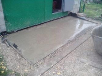 Заезд из бетона расчет цементного раствора для столбов забора